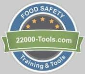 Questions? 22000-Tools.com 800-746-3174 • Feedback from our customers: • I have just completed the SQF Internal
