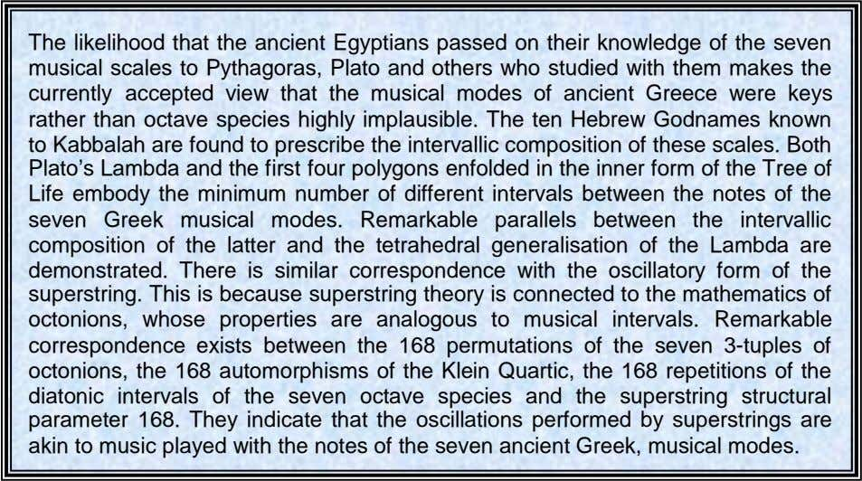 The likelihood that the ancient Egyptians passed on their knowledge of the seven musical scales