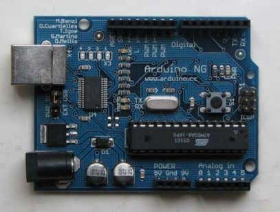 well as the Bluetooth Arduino (known as Arduino BT) board. Figure 1. Left: the Arduino NG