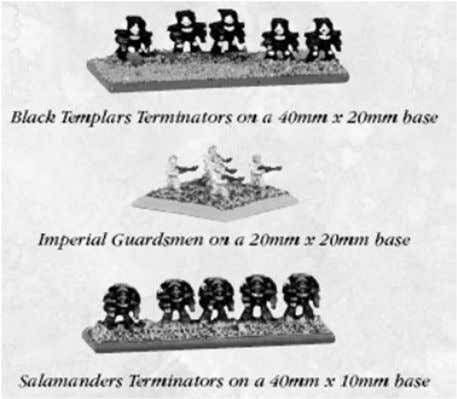 is not allowed, but a 5mm by 20mm stand would be okay). • Stands representing infantry