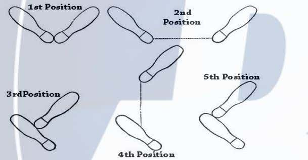 position: Feet side by side about shoulder width apart Chassé: Step together step, a gliding movement