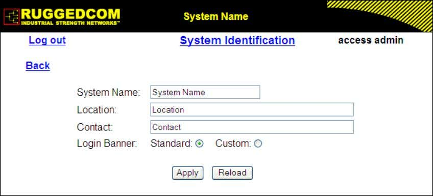 1. Administration Figure 1.12. System Identification Form System Name Synopsis: Any 19 characters Default: System Name