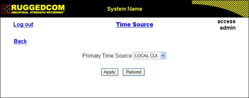 for the local clock and for all served time references. Figure 1.18. Time Source Form Primary