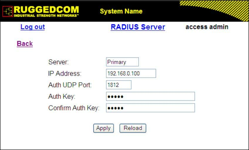 Server Configuration Figure 1.25. RADIUS Server Summary Figure 1.26. RADIUS Server Form Server Synopsis: Any 8