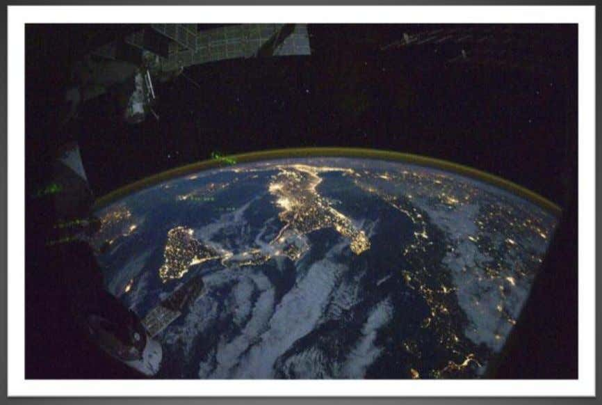 View from the ISS - The Nile and Egypt by night 2