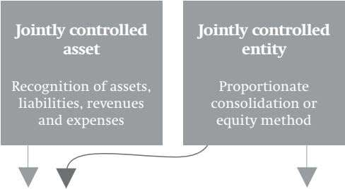 Jointly controlled asset Jointly controlled entity Recognition of assets, liabilities, revenues and expenses