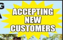 ACCEPTING NEW CUSTOMERS