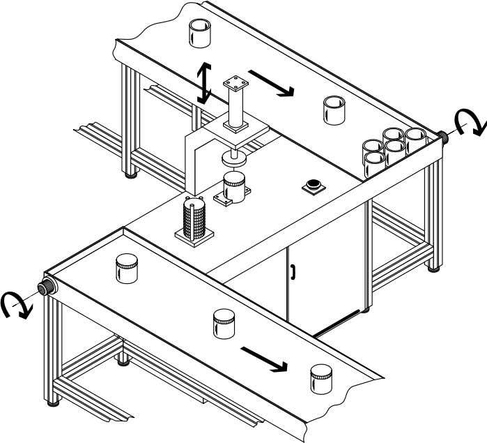 1. Introduction Fig. 1.3: Assembly device for mounting lids on cans Controls must evaluate and process