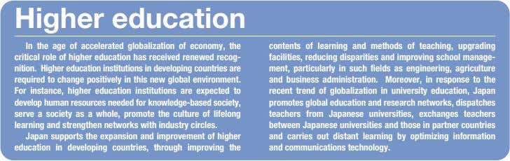 Higher education In the age of accelerated globalization of economy, the critical role of higher