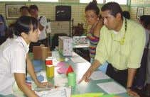 JOCVs in Honduras are now about to bear fruit in the region. Exhibition of learning materials