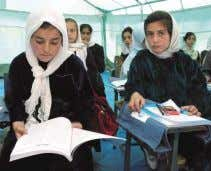 create new employment opportunities for local communities. Female students learning at a temporary classroom