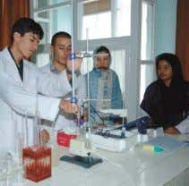 assigning several Afghan lecturers to be trained in Japan. Science class at University of Kabul Algeria
