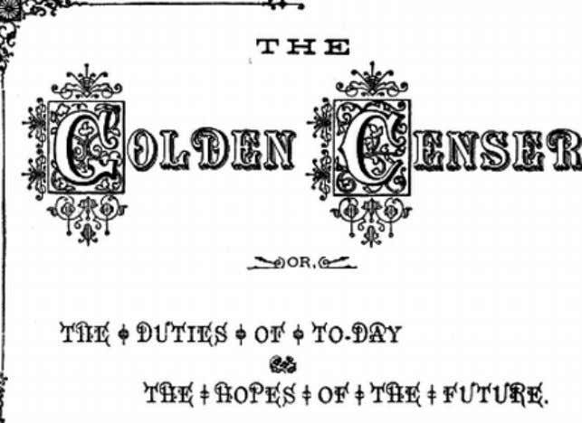 "eBook of ""The Golden Censer"", by John McGovern. BY JOHN M c GOVERN, (OF THE CHICAGO"