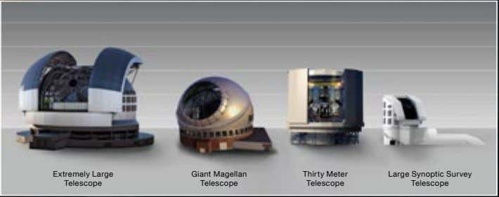 Extremely Large Giant Magellan Thirty Meter Telescope Telescope Telescope Large Synoptic Survey Telescope