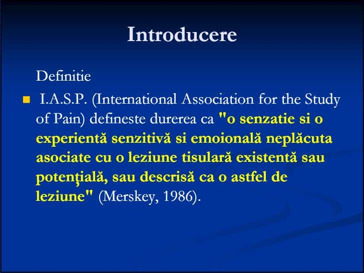 IntroducereIntroducere DefinitieDefinitie I.A.S.P.I.A.S.P. (International(International AssociationAssociation forfor