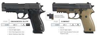 AvAILABLE wITH THREADED BARREL P220 e nhan C ed e lite P 220 C ombat
