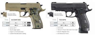 AvAILABLE WITH AvAILABLE WITH THREADED BARREL THREADED BARREL P 226 scorpion P226 tacops 20 caliber