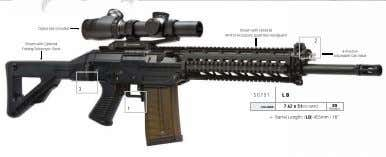 Optics Not Included Shown with Optional M1913 Accessory Quad Rail Handguard 2 Shown with Optional