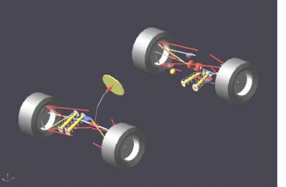 of camber angle due to roll and longitudinal dynamics Fig. 12. Modeling of suspension system with