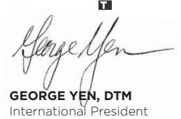 GEORGE YEN, DTM International President
