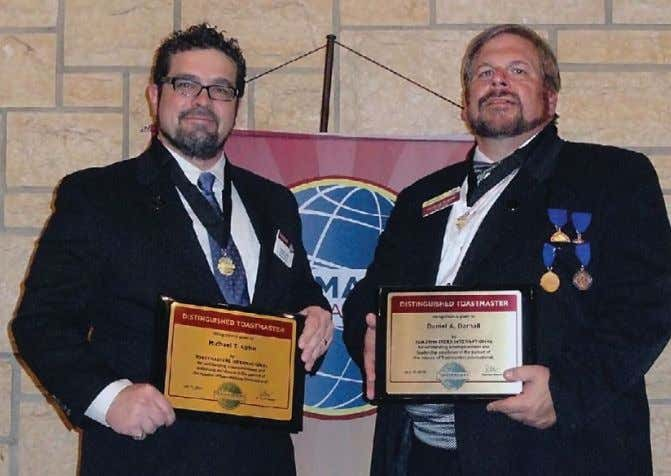 to develop stronger leadership and communication skills. MIKE KOTUR, DTM (left), and his mentor, Dan Darnall,