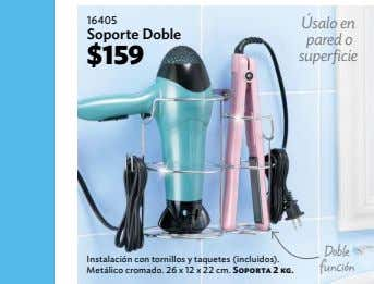 22 16405 Úsalo en Soporte Doble pared o $159 superficie Doble Instalación con tornillos y