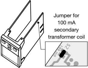 Jumper for 100 mA secondary transformer coil
