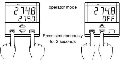 4 4 operator mode 274.8 274.8 275.0 OFF Press simultaneously for 2 seconds