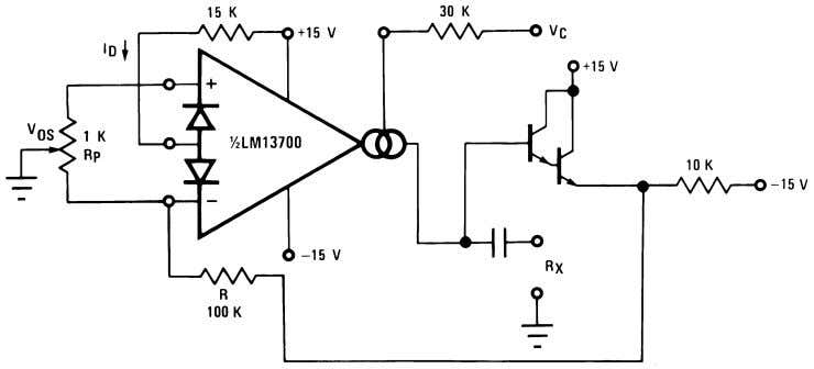00798115 FIGURE 8. Voltage Controlled Resistor, Single-Ended 00798116 FIGURE 9. Voltage Controlled Resistor with