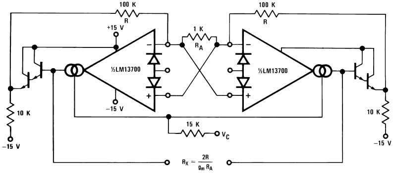 Voltage Controlled Filters (Continued) 00798117 FIGURE 10. Floating Voltage Controlled Resistor 00798118 FIGURE 11.
