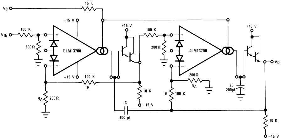00798119 FIGURE 12. Voltage Controlled Hi-Pass Filter 00798120 FIGURE 13. Voltage Controlled 2-Pole Butterworth