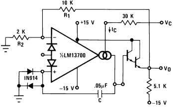Oscillators (Continued) 00798124 FIGURE 17. Sinusoidal VCO 00798125 Figure 18 shows how to build a VCO