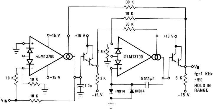 Additional Applications (Continued) FIGURE 21. Phase Lock Loop The Schmitt Trigger of Figure 22 uses the