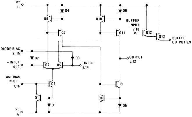 Schematic Diagram One Operational Transconductance Amplifier Typical Application 00798101 00798118 Voltage Controlled