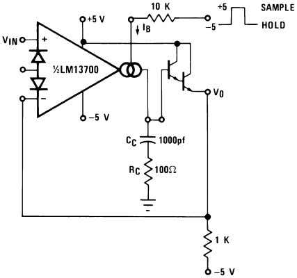 Additional Applications (Continued) 00798132 FIGURE 25. Sample-Hold Circuit 00798133 FIGURE 26. Ramp and Hold