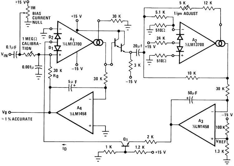 Additional Applications (Continued) 00798134 FIGURE 27. True RMS Converter The circuit of Figure 28 is a