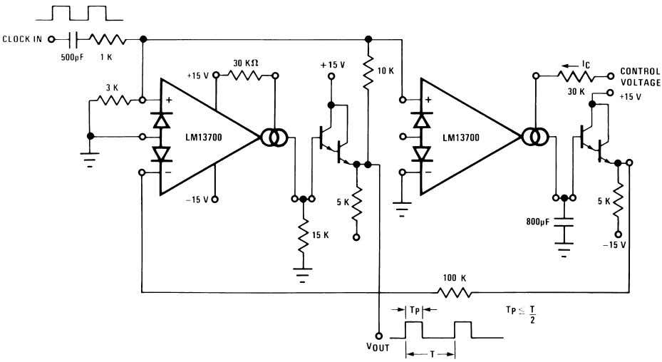 Additional Applications (Continued) 00798135 FIGURE 28. Delta VBE Reference 00798136 FIGURE 29. Pulse Width Modulator