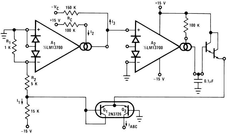 Additional Applications (Continued) 00798137 FIGURE 30. Logarithmic Current Source