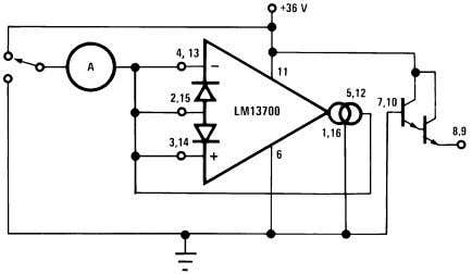 Characteristics (Continued) Leakage Current Test Circuit 00798106 Circuit Description The differential transistor