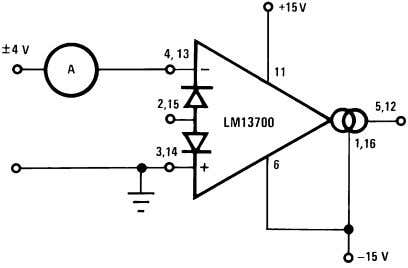 to I A B C . Differential Input Current Test Circuit 00798107 Linearizing Diodes For differential