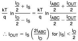 similar voltages and tempera- tures, the following is true: (6) Notice that in deriving Equation (6)