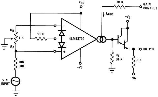 recommended for I D unless the specific application demands otherwise. 00798109 FIGURE 2. Voltage Controlled Amplifier
