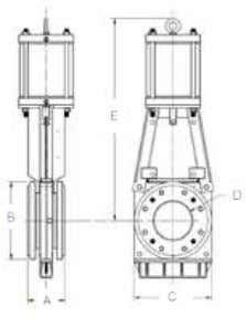 14 Sizing AC Imperial Sizing (in) HYD HW BG Valve size A (in) B (in) C