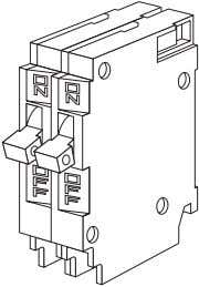 that has the same dimensions of a full-size, 1-pole breaker. In a 16 space/32 circuit load