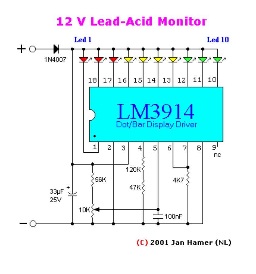 Posted with permission of Jan Hamer This simple circuit makes it posible to monitor the