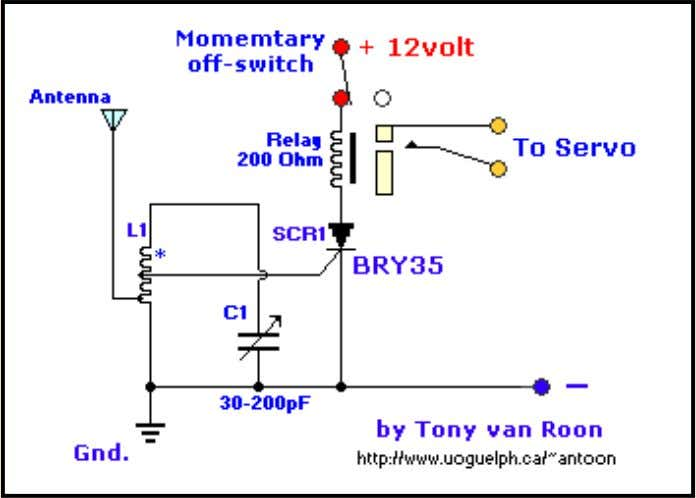 Simplest R/C Circuit by Tony van Roon A simple and effective receiver for actuating garage doors,