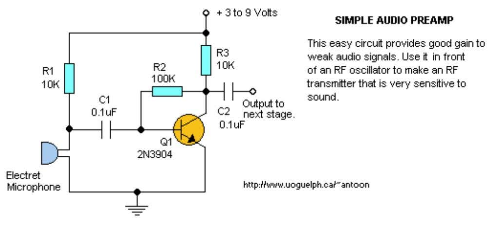 Audio Pre-Amplifier Additional Notes (N/A) Back to Circuits page