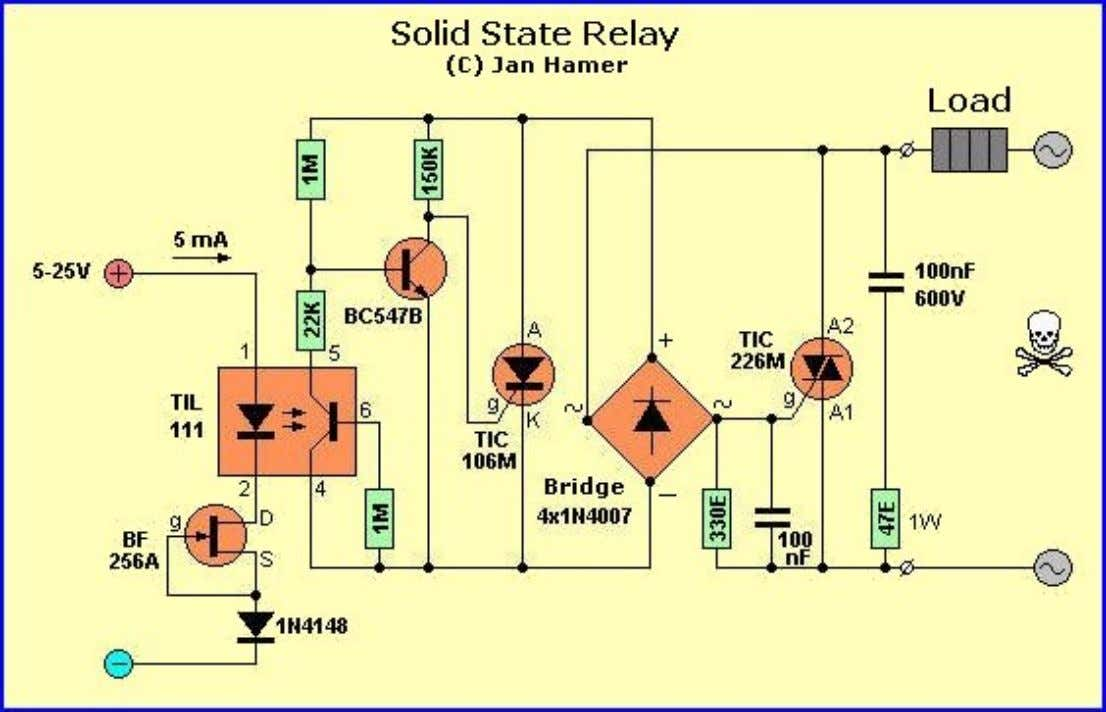 components and the circuitry is simple and straightforward. A Solid State Relay is actually not a