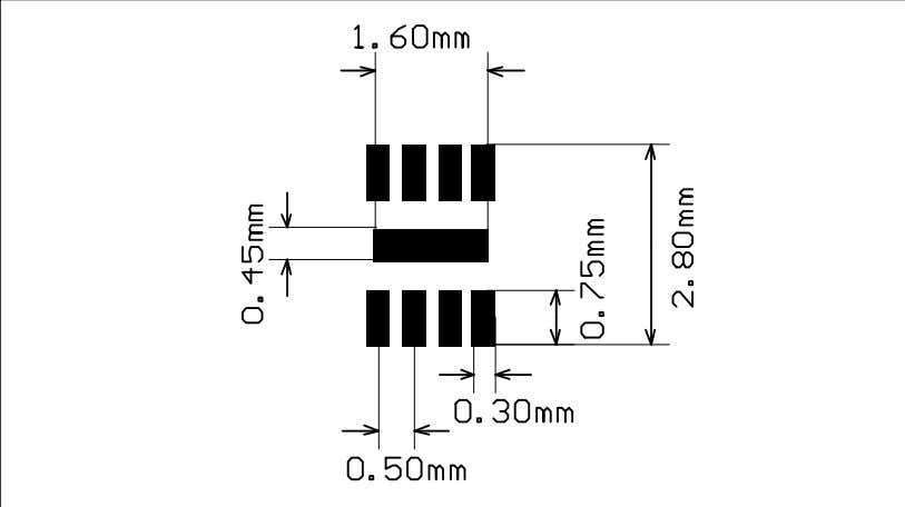 Package information LM193, LM293, LM393 Figure 22: DFN8 2x2 recommended footprint 14/21 DocID2164 Rev 15