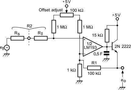 Figure 14: Low-frequency op amp with offset adjust